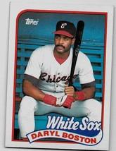 1989 Topps Baseball Card, #633, Daryl Boston, Chicago White Sox - $0.99