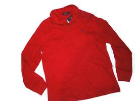 Polo Ralph Lauren Men's Sweater 1/4 Zip Red Pull Over Medium M - $61.39