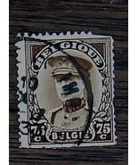 Nice Vintage Used Belgique Belgie 75 C Stamp, GOOD COND - 1940's - $2.96