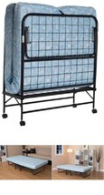 """Twin Folding Foldable Guest Bed Frame W/ 5"""" Mattress Cot Camping Travel ... - $111.25"""