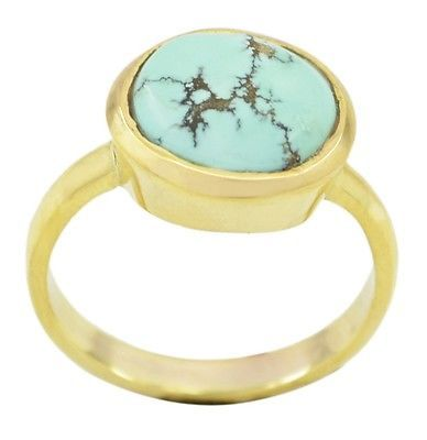 captivating Turquoise Gold Plated Multi Ring supplies US gift
