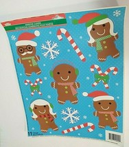 Christmas House Gingerbread Family Winter Window Stickers 11 ct Snowflak... - $6.00