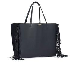 Victoria's Secret Black Fringe Tote Bag - $25.00