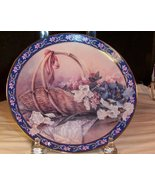 Lena Liu's Basket Bouquet Irises Collector's Plate - $18.80