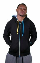 Flip The Script Japanese Black Zip Hoodie Nude Playing Card Lining NWT