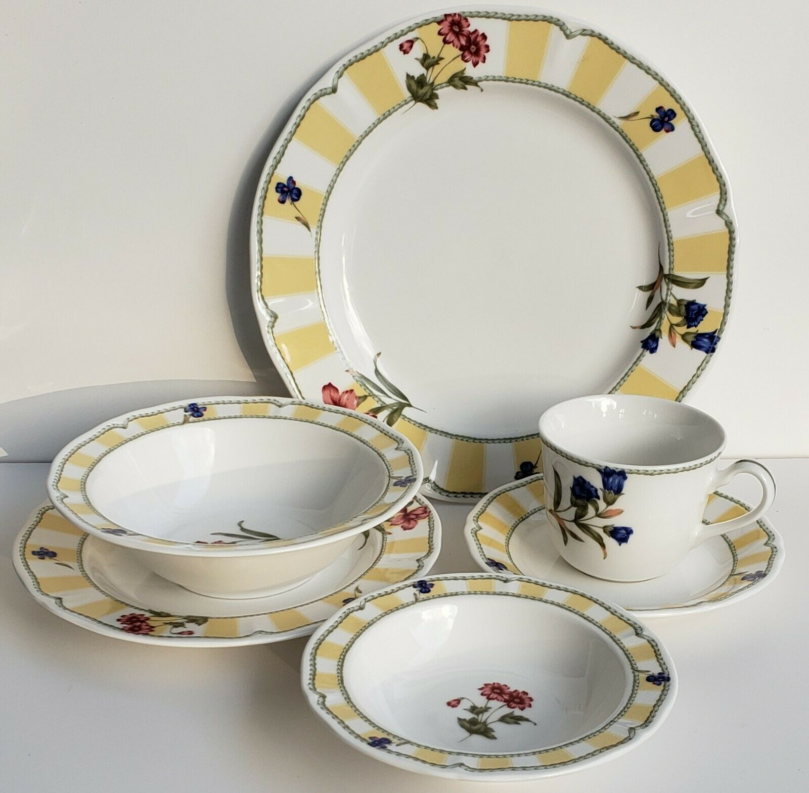 Primary image for (1) 6 Pc. Homecraft by Noritake Summer Estate 9212 Dinnerware Place Set Korea