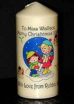 "Personalised gift TEACHER Christmas candle large 6""inch  #1 - $16.84"