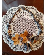 """Vintage Wood Flowers & Beads Necklace, 24"""", from 1980s - $19.00"""