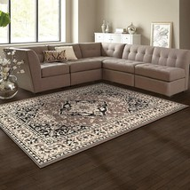 Superior Glendale Collection Brown Oriental Design 8' x 10 ' Area Rug 8m... - $117.95