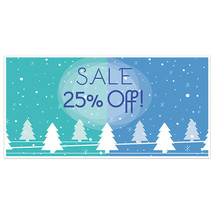 Winter Sale Business Window Display Retail Large Format Sign - $19.31+