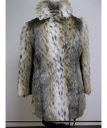 Tri Colored Faux Fur With Maroon Lining Size Medium - $88.00
