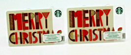 Starbucks Coffee 2015 Gift Card MERRY CHRISTMAS Holiday Zero Balance Set... - $12.02