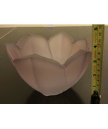 vintage lenox frosted art glass Pupple tulip bowl - $29.70