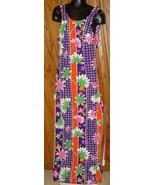 Vintage 70s MOD colorful floral summer maxi Dress gown - $52.23