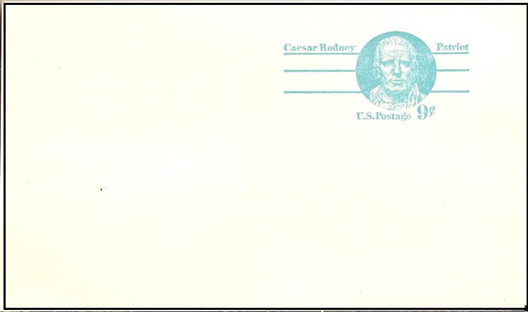 Postcard caesar rodney patriot
