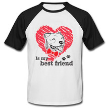 Pitbull Is My Best Friend - New Cotton Baseball Tshirt - $27.10