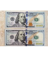 TWO $100 FEDERAL RESERVE NOTES 2009 A CONSECUTIVE SERIAL # 77703242 and ... - $276.21