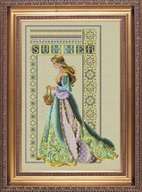 Celtic Summer cross stitch Lavendar & Lace Marilyn Leavitt-Imblum - $14.40