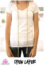 New Gold Link Chain Long Necklace With Tassels, Belt, Knotted, Paparazzi Brand - $5.00