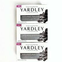 3 Yardley London Activated Charcoal w/ Bentonite Clay Moisturizing Bath Bar Soap - $12.16