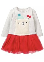 NEW Gymboree Baby Girls Arctic Pals Polar Bear Dress  Size 0 to 3 Months Tulle - $14.84