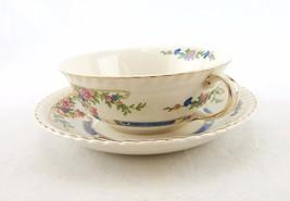 Johnson Brothers Flat Cream Soup Bowl & Saucer Set Eastbourne (Old English) Pat. - $39.15