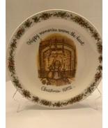 HOLLY HOBBIE Vintage Commemorative Edition Plate Christmas 1972 Happy me... - $10.00