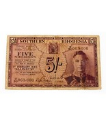 1945 Southern Rhodesia 5 Shillings Note Fine Condition - €93,83 EUR