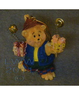 Teddy Bear Holiday Christmas Ornament with Presents Bells - $1.99