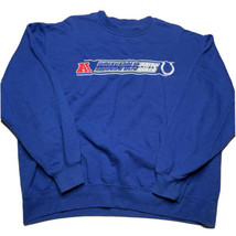NFL Team Apparel Indianapolis Colts Embroidered Spellout Crewneck Sweats... - $29.63