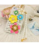 Elegant Handmade 3D Luxury White Pearl Flower Case For iphone 4/4s/5 Ver... - $23.99