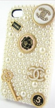Elegant Handmade 3D Luxury White Pearl Case For iphone 4/4s/5 Very Cute and Beau
