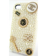 Elegant Handmade 3D Luxury White Pearl Case For iphone 4/4s/5 Very Cute ... - $24.99