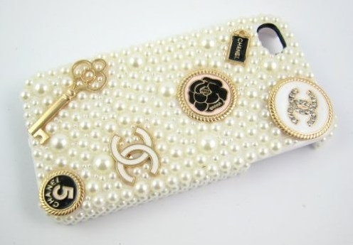Elegant Handmade 3D Luxury White Pearl Case For iphone 4/4s/5 Very Cute and Beau image 2