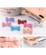 Crystal Bow Tie Style Dustproof Anti Dust Plugs Bundles 7 Different Colo... - $10.00