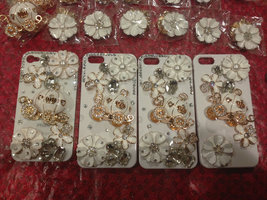 3D Luxury Bling Crystal Cinderella's Pumpkin Cart Stone Case For iphone 4/4s/5 b image 3
