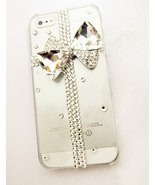 3D Luxury Bling Crystal Diamond Cross Bow Knot Clear Case For iphone 4 4... - $14.99
