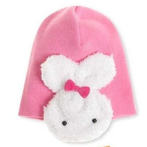 Lovely Cute Baby Hat With White Rabbits On The Side 100% Cotton Very Soft and Co image 3