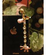 Luxury Diamond Crystal Giraffe Style Dustproof Anti Dust Plugs Cap Earph... - $10.00