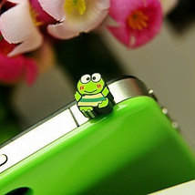 Cute Frog Panda Style Dustproof Anti Dust Plugs Cap Earphone Jack 3.5mm for iPho image 1