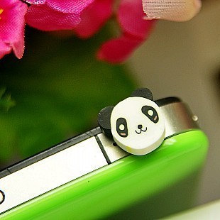 Cute Frog Panda Style Dustproof Anti Dust Plugs Cap Earphone Jack 3.5mm for iPho image 3