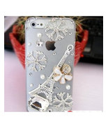 3D Luxury Bling Crystal Diamond Snowflake Tower Clear Case For iphone 5 ... - $14.99