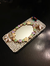 3D Luxury Bling Diamond Crystal Glass Mirror Clear Case For iPhone SE 5 5S - €17,76 EUR