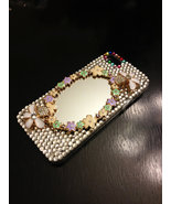 3D Luxury Bling Diamond Crystal Glass Mirror Clear Case For iPhone SE 5 5S - $19.99