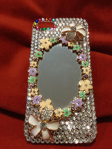 3D Luxury Bling Diamond Crystal Glass Mirror Clear Case For iPhone SE 5 5S image 2