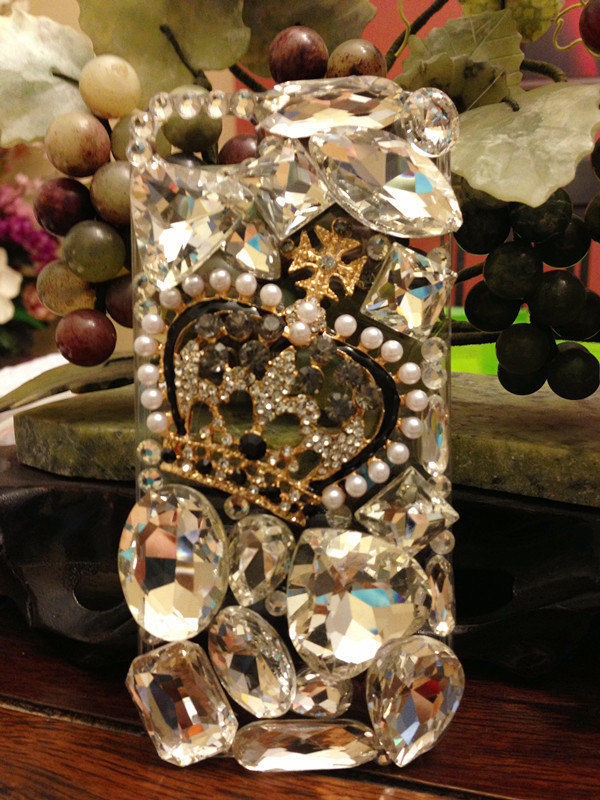 3D Luxury Bling Diamond Crystal Crown Clear Case For iphone 5 Very Beautiful and