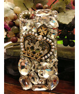 3D Luxury Bling Diamond Crystal Crown Clear Case For iphone 5 Very Beaut... - $19.99
