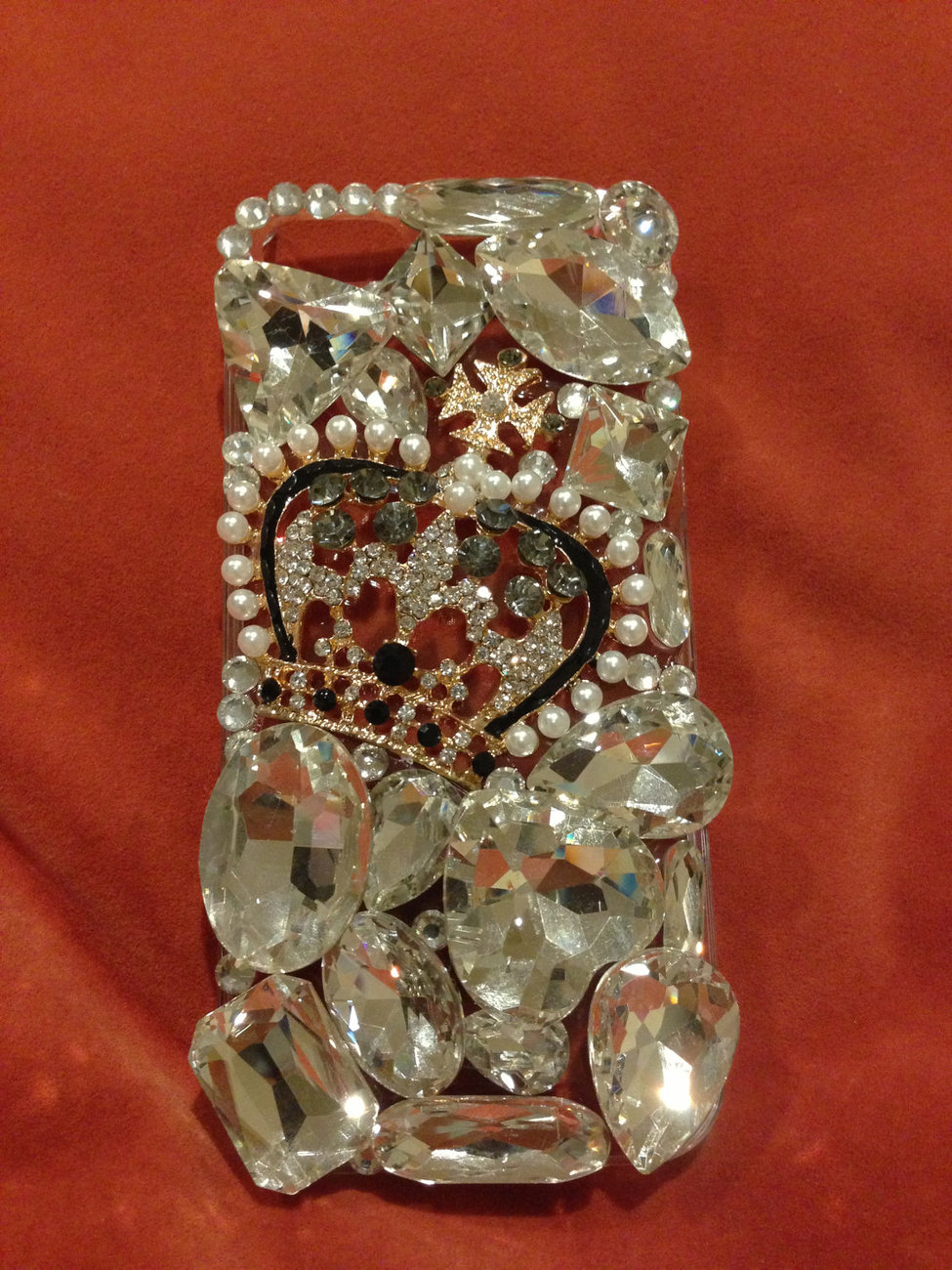 3D Luxury Bling Diamond Crystal Crown Clear Case For iphone 5 Very Beautiful and image 2