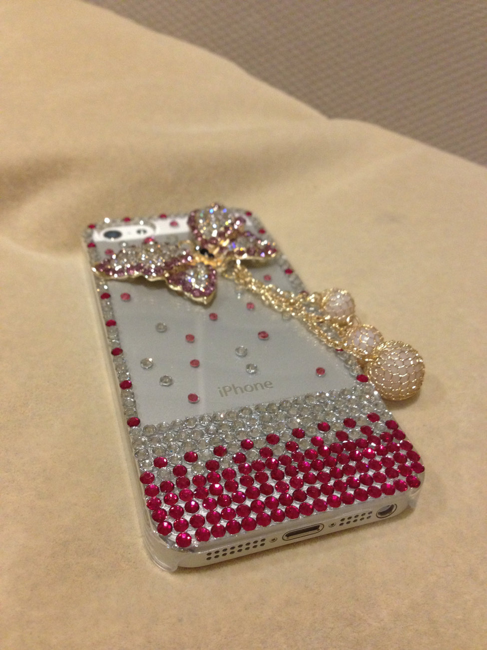 3D Luxury Bling Diamond Crystal Butterfly Clear Case For iphone 5 Very Beautiful image 3