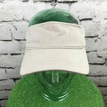 Dorfman Pacific Mens One Sz Hat Beige Khaki Adjustable Sport Golf Sun Vi... - $14.84